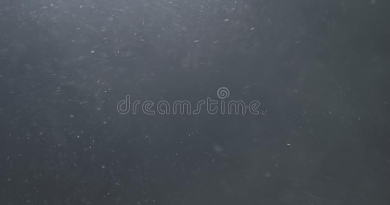 Backlit dust particles explosion effect on a black background with motion blur. Wide photo stock photo