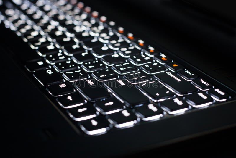 Backlit Keyboard stock image