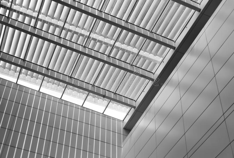 Backlit louvered ceiling,Sun shine comes in. Backlit louvered ceiling,Sun light comes in royalty free stock photos