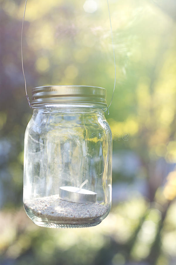 Backlit Mason Jar royaltyfri foto