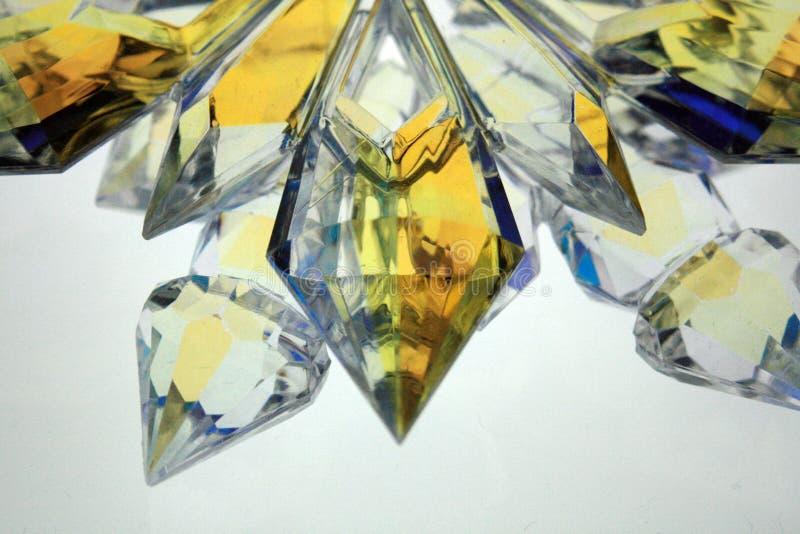 Backlit oranje kristal royalty-vrije stock afbeelding