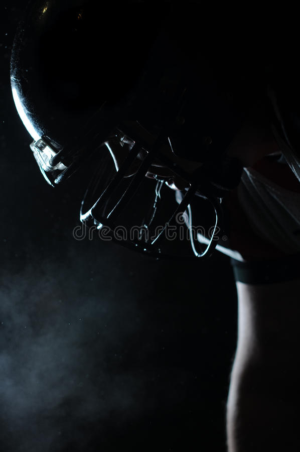 Free Backlit Portrait Of American Football Player Stock Images - 16952324