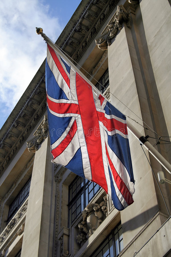 Backlit Union Jack flag royalty free stock image