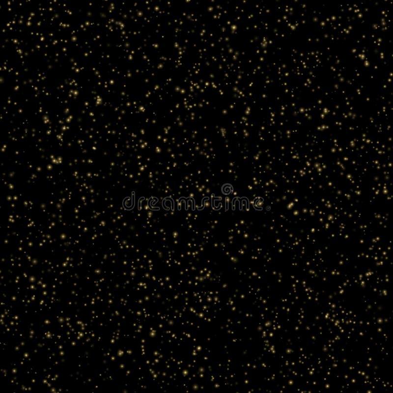 Backlit złocistego pyłu cząsteczek abstrakta tło 10 eps royalty ilustracja