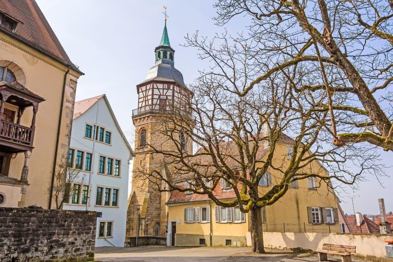 Backnang, église d'abbaye photo libre de droits
