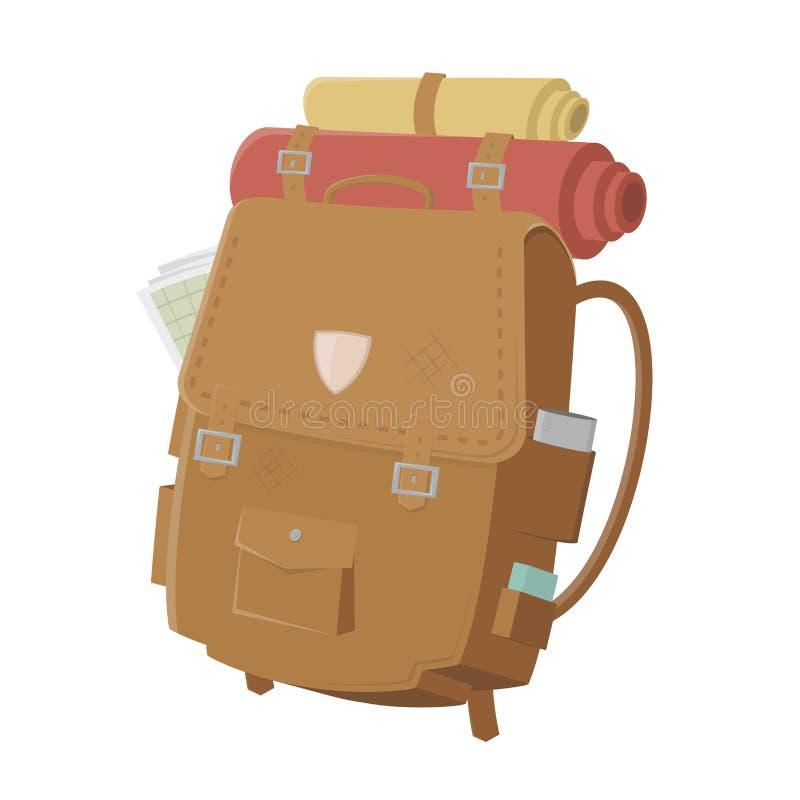 backpack η απεικόνιση απομόνωσε ένα λευκό ελεύθερη απεικόνιση δικαιώματος