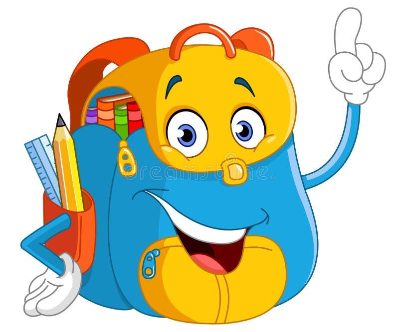 Backpack κινούμενων σχεδίων απεικόνιση αποθεμάτων