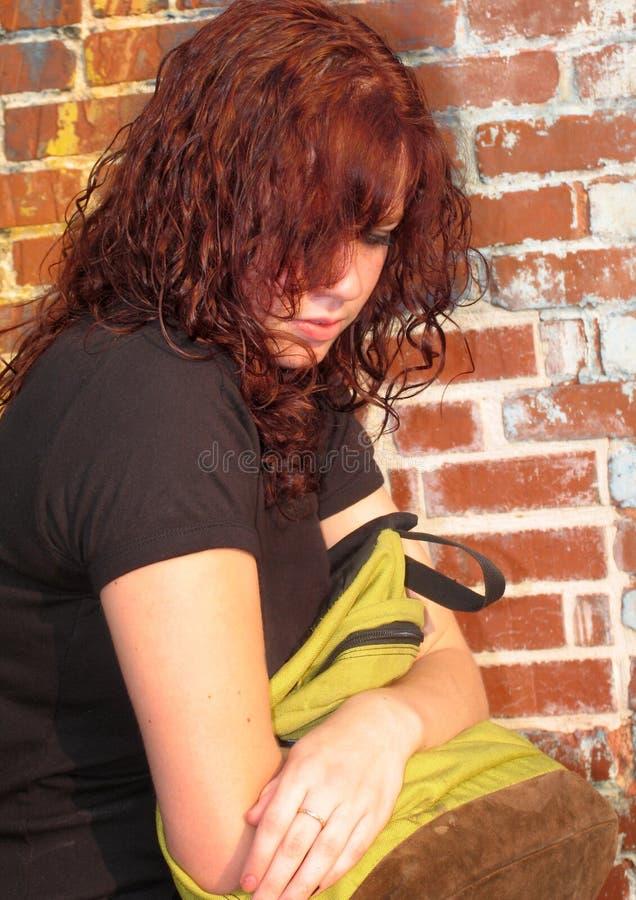 backpack κορίτσι στοκ εικόνες με δικαίωμα ελεύθερης χρήσης
