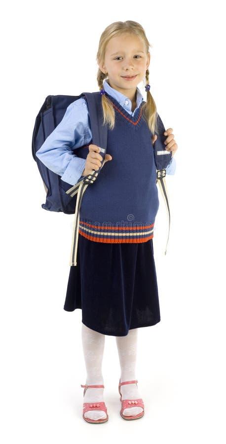 backpack μεγάλο κορίτσι στοκ φωτογραφίες με δικαίωμα ελεύθερης χρήσης