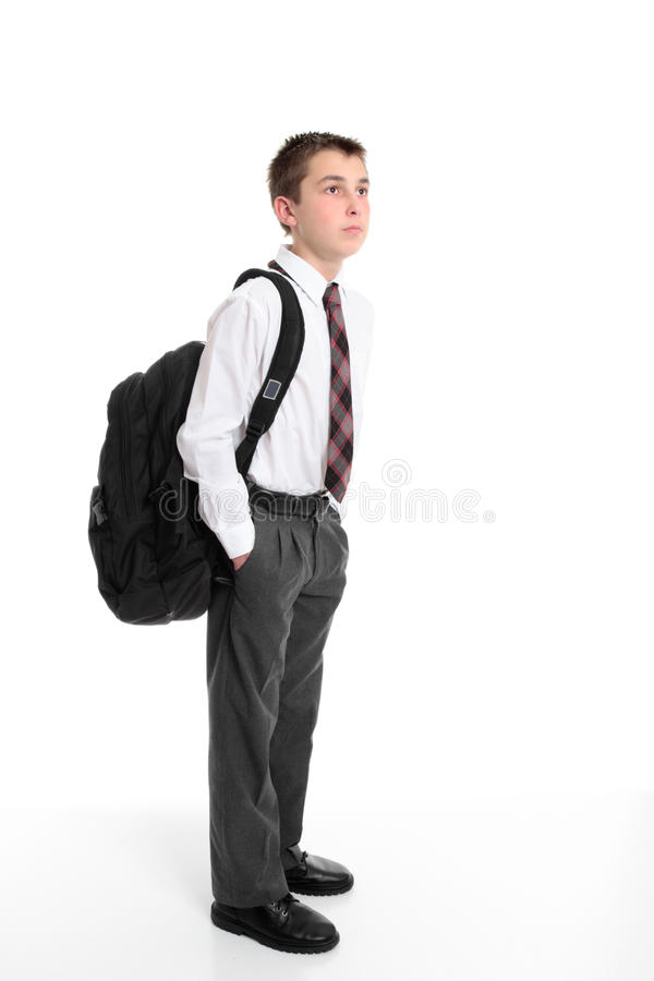 backpack φέρνοντας σπουδαστής γ στοκ εικόνα