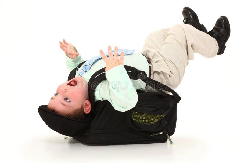 backpack тяжелый стоковые изображения