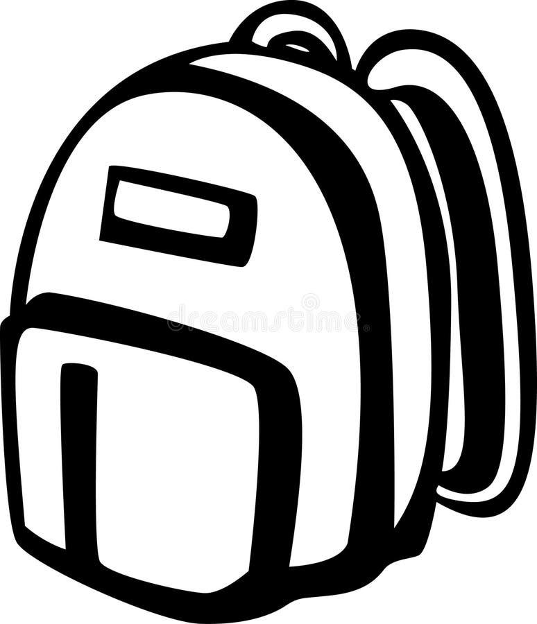 Backpack royalty free illustration