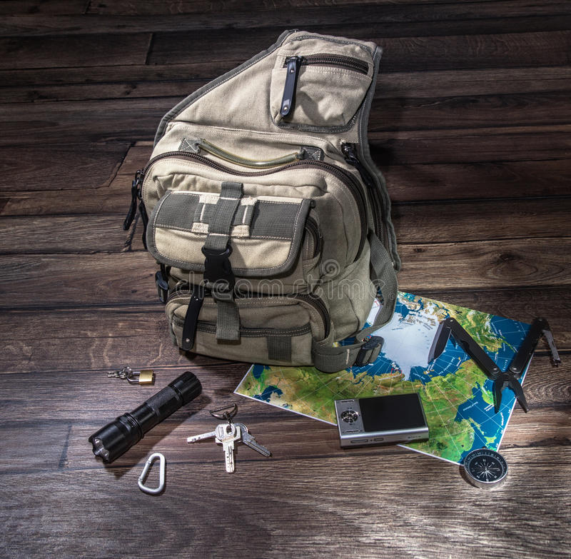 Backpack - emigrate concept stock images