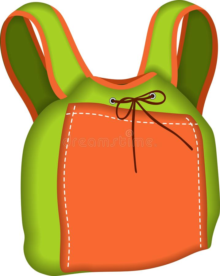 Backpack Green And Orange Stock Images