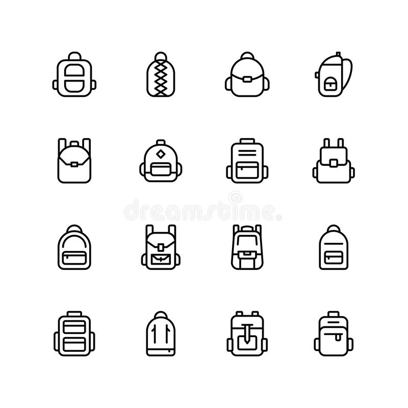 Backpack icon stock illustration