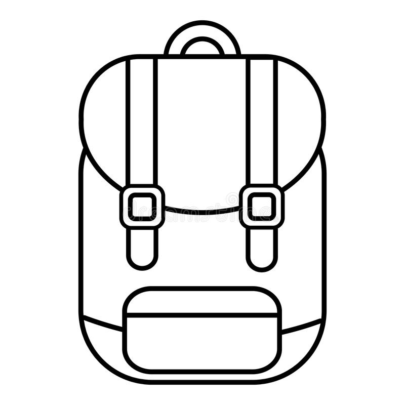 Line Art Xl 2000 : Backpack icon outline line style stock vector