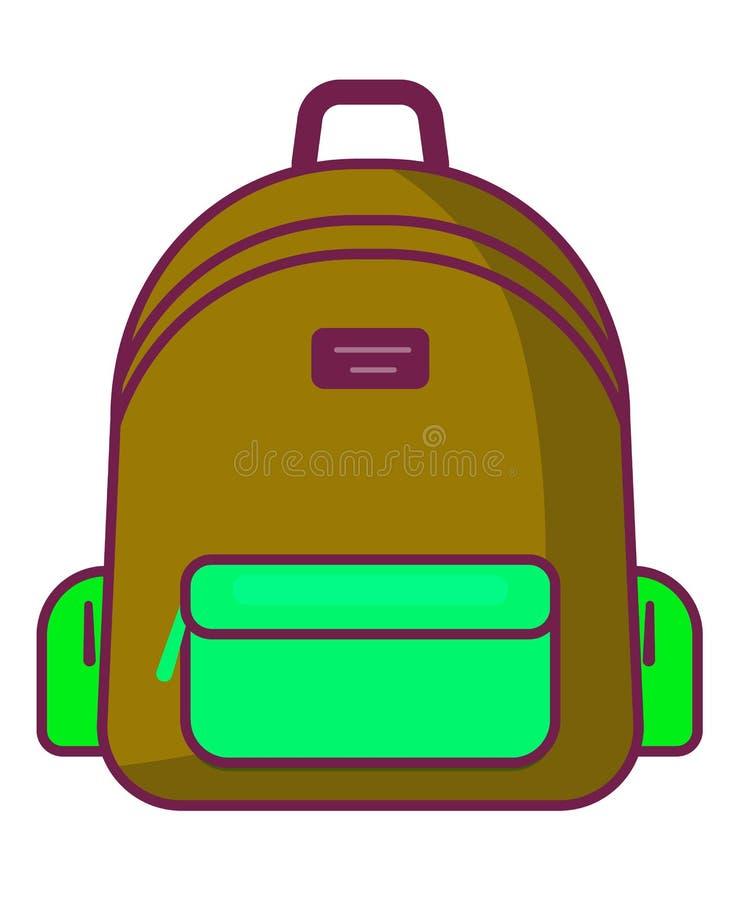 Backpack icon - vector school symbol - travel icon royalty free illustration