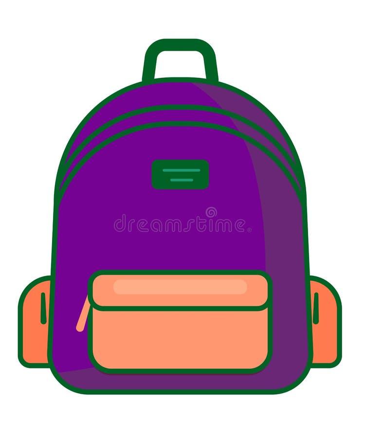 Backpack icon - vector school symbol - travel icon vector illustration