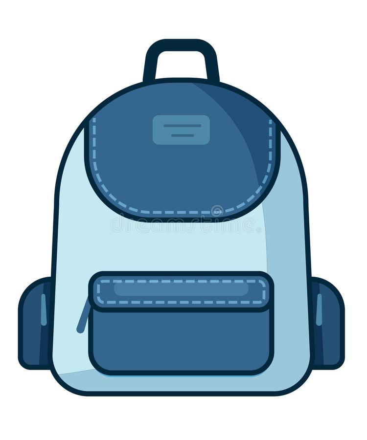 Backpack icon. Vector school symbol. Travel icon stock illustration