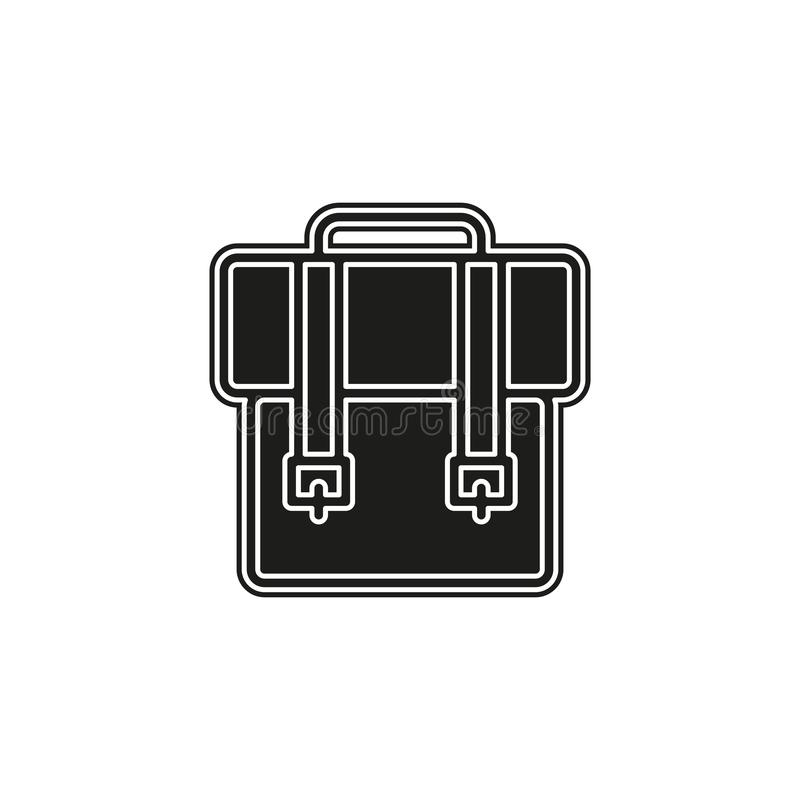 Backpack icon - vector school symbol - travel icon stock illustration