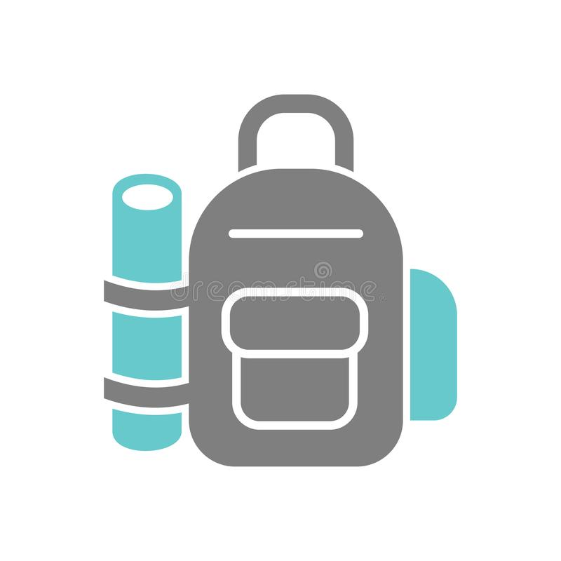 Backpack icon on white background for graphic and web design, Modern simple vector sign. Internet concept. Trendy symbol for royalty free illustration