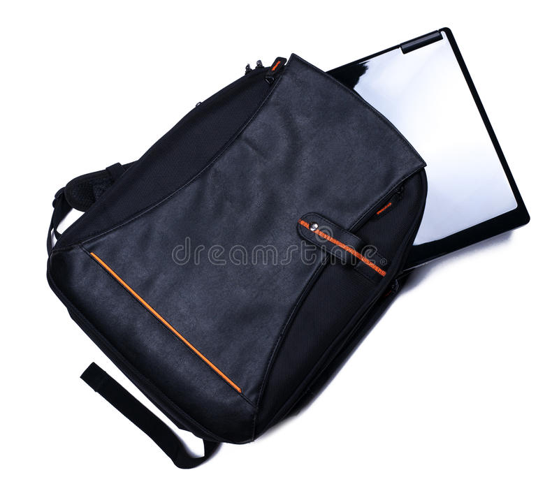 Download Backpack with laptop stock photo. Image of bag, office - 33462062