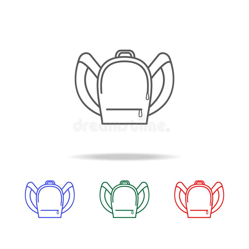 backpack line icon. Elements of education multi colored icons. Premium quality graphic design icon. Simple icon for websites, web vector illustration