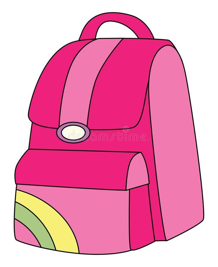 Download Backpack pink stock illustration. Image of carry, girls - 16467613