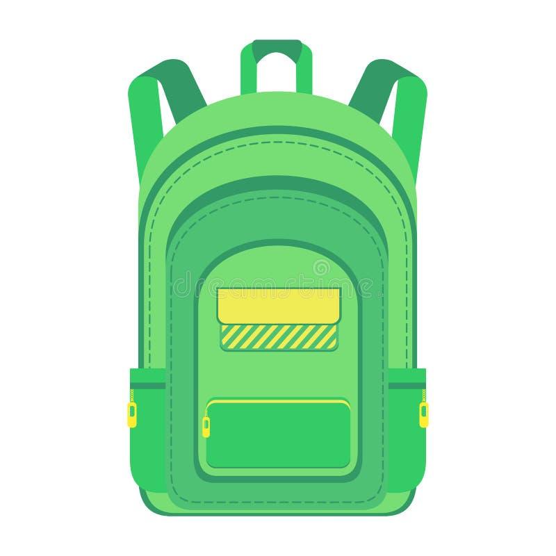 Backpack. Schoolbag. stock illustration