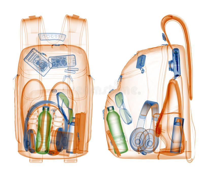Download Backpack under xray stock illustration. Image of pack - 27142210