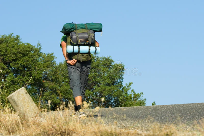 Backpacker stock afbeelding