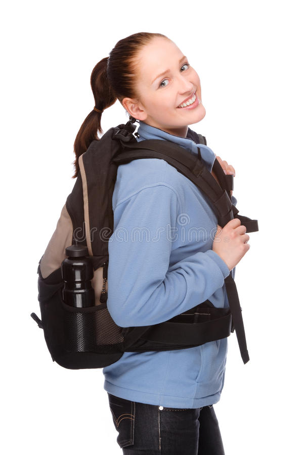 Download Backpacker stock photo. Image of attractive, backpack - 24756424