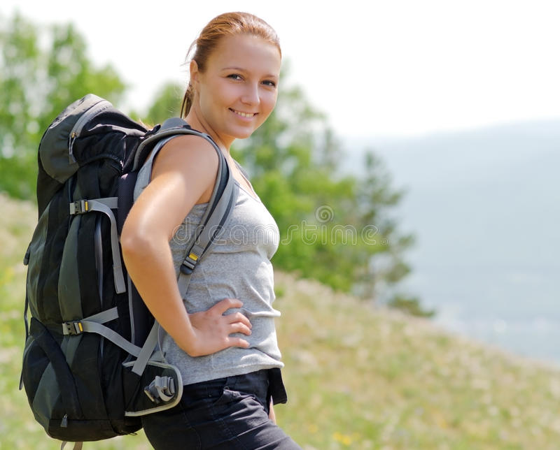Download Backpacker stock photo. Image of forest, backpacking - 25301166
