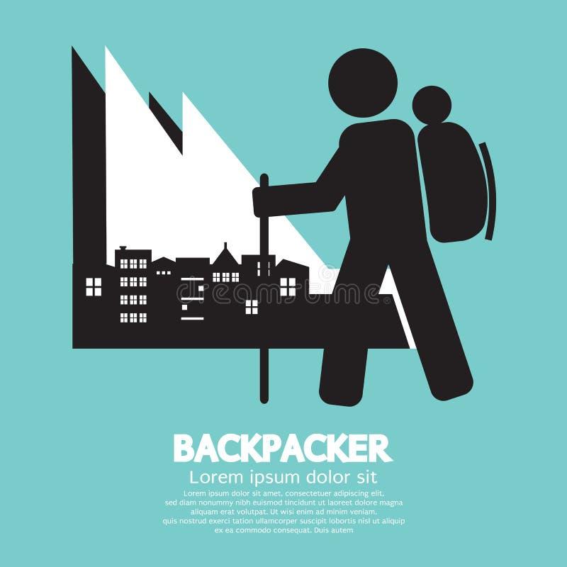Backpacker vector illustratie