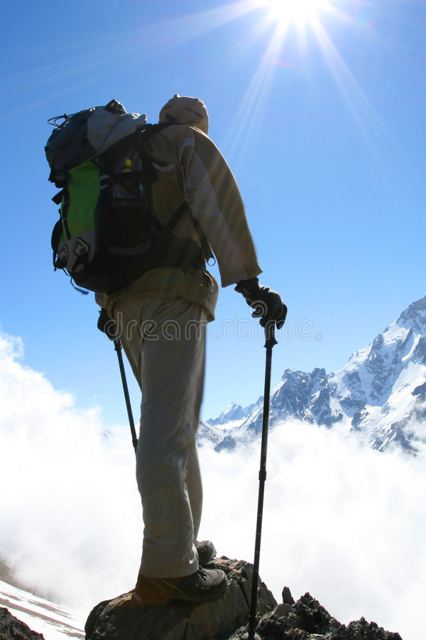 Download Backpacker stock photo. Image of snow, active, landscapes - 5648770