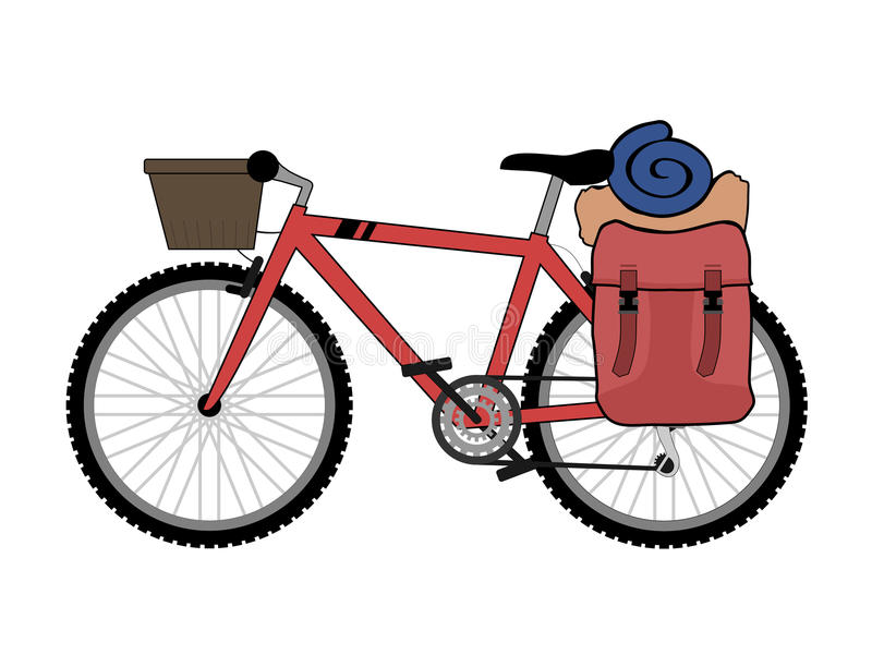 Download Backpacker Bicycle Stock Vector - Image: 83721974