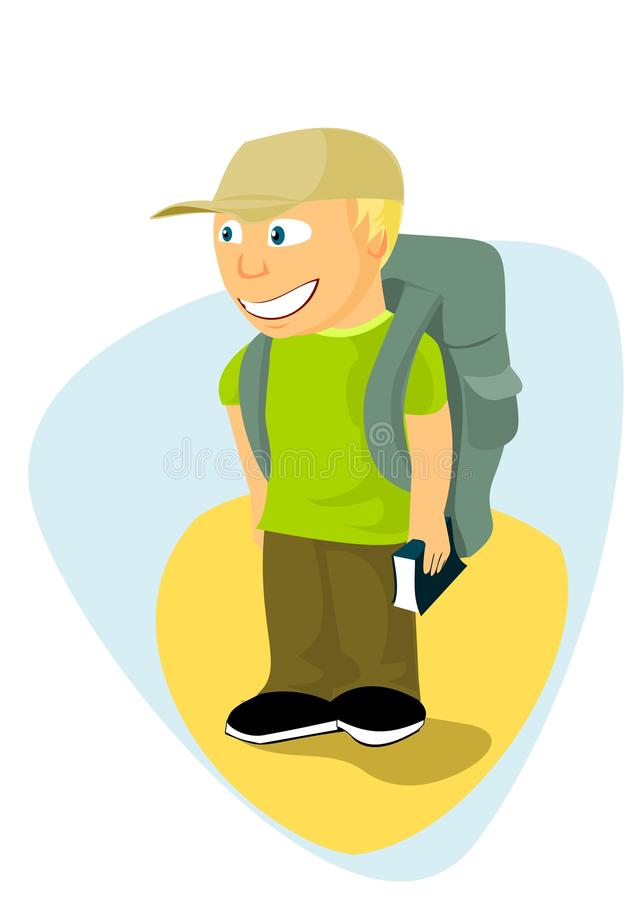 Download Backpacker Boy With Travel Guide Stock Image - Image: 17753991