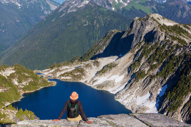 In hike royalty free stock photo
