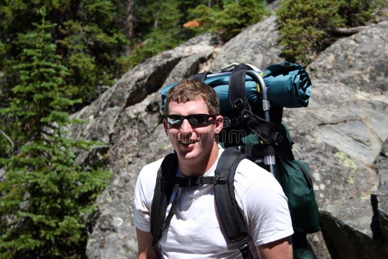 Backpacker - Montana royalty-vrije stock afbeelding
