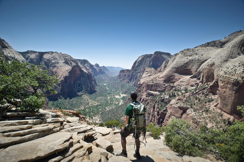 Download Backpacker Watching The Views Stock Photo - Image: 25253424