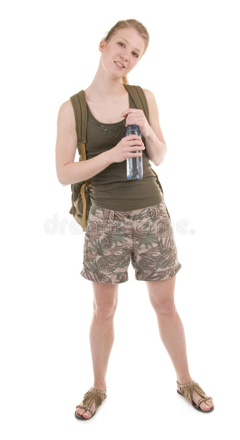 Download Backpacker A Young Woman stock photo. Image of brightly - 18767234