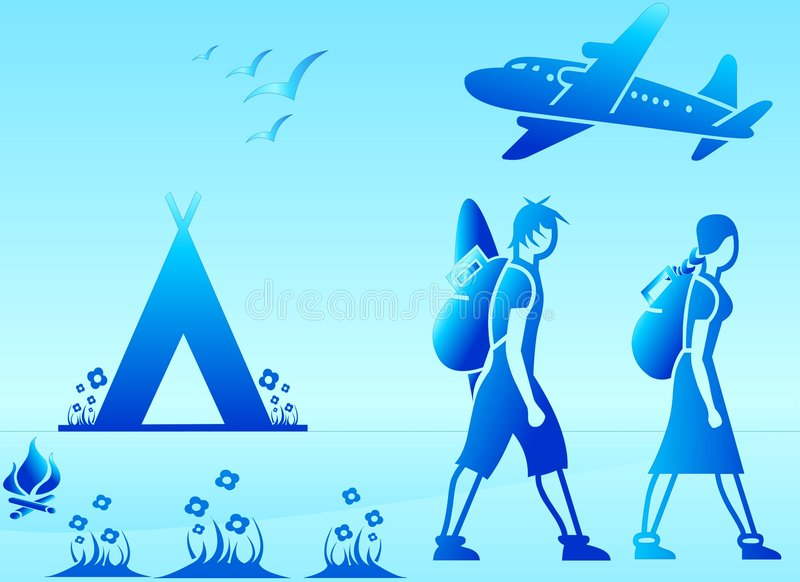 Backpackers On Holiday royalty free stock photo
