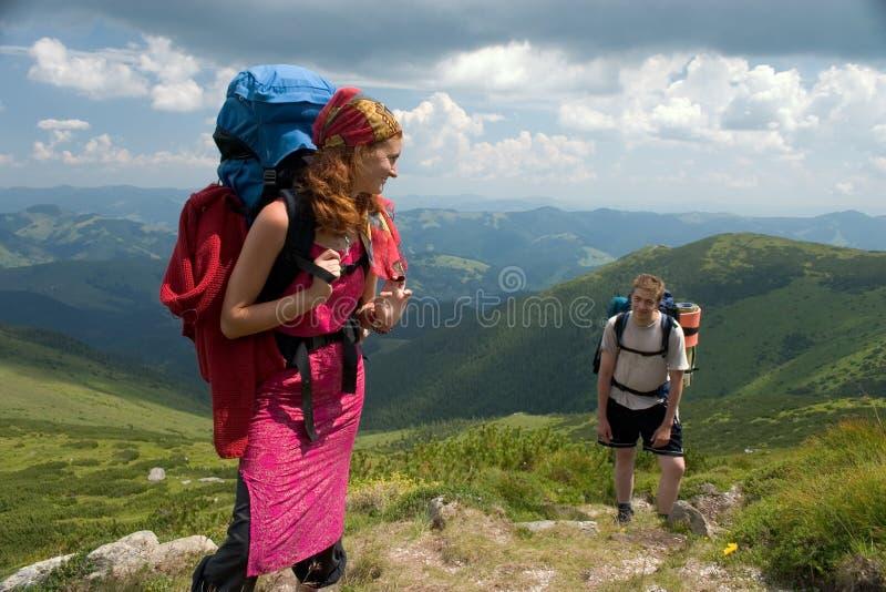 backpackers para zdjęcia royalty free