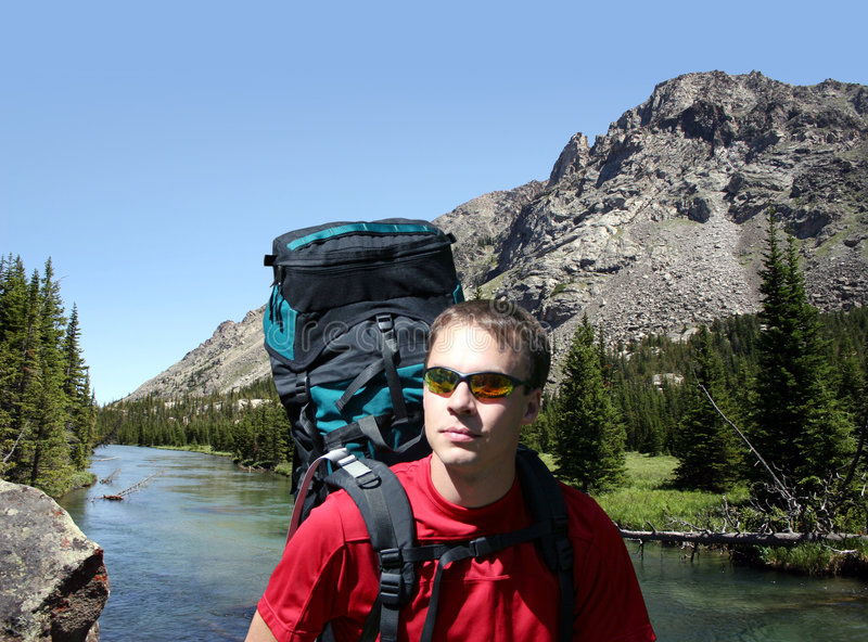 backpacking Μοντάνα στοκ φωτογραφίες με δικαίωμα ελεύθερης χρήσης
