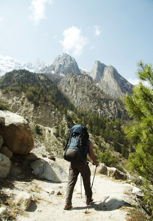 Backpacking royalty free stock images
