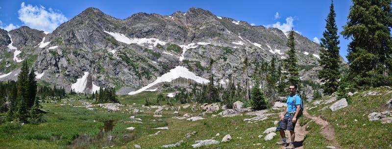 Backpacking in Colorado royalty-vrije stock afbeeldingen