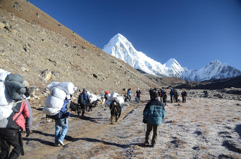 Download Backpacking In The Himalayas Editorial Image - Image: 22343840