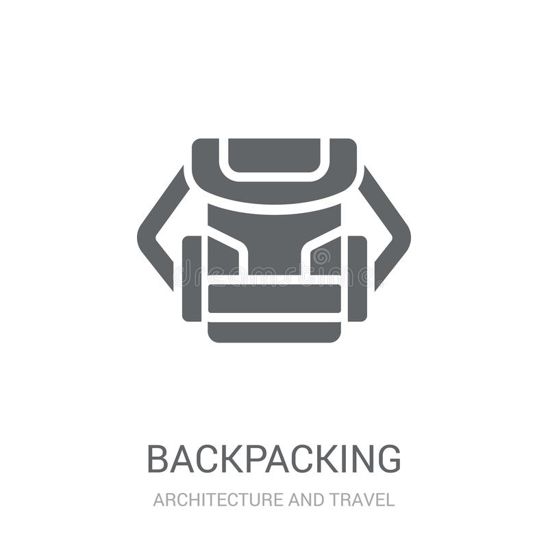 Backpacking icon. Trendy Backpacking logo concept on white background from Architecture and Travel collection vector illustration