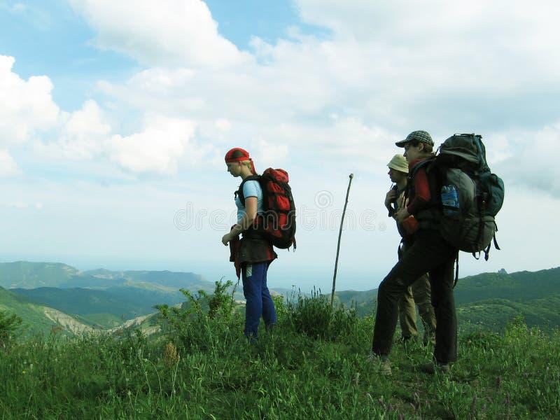 backpacking Krym obrazy royalty free