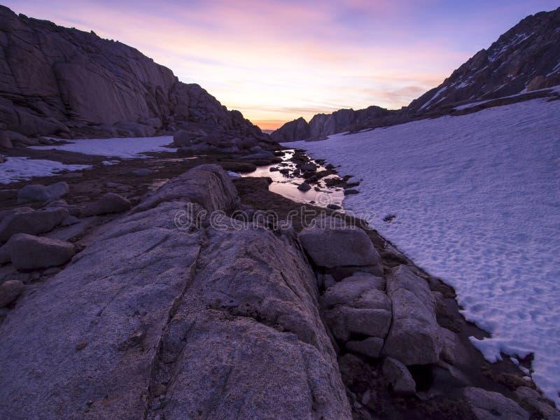 Backpacking Mt Whitney region zdjęcie stock